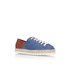 Nine West - Blue 'nonchalant7' flat lace up sneaker