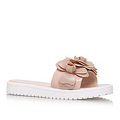 Nine West - Natural 'Radella3' slip on sandle with flower detail