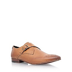 KG Kurt Geiger - Brown 'Daventry' low heel monk shoe