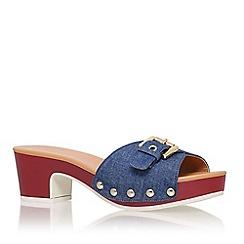 Nine West - Blue 'forchen7' mid heel slip on sandal