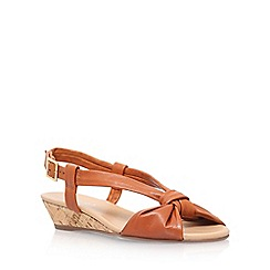 Carvela - Brown 'Sally' low heel sandal