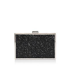 Miss KG - Black 'Toni' clutch bag with shoulder strap