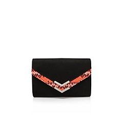 Carvela - Black 'Dandy' envelope clutch bag with shoulder chain