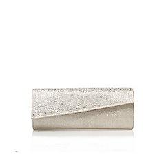 Carvela - Silver 'dazzle' clutch bag with shoulder strap