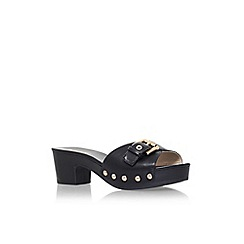 Nine West - Black 'Forchen3' mid heel sandal