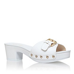 Nine West - White 'forchen' low heel sandal