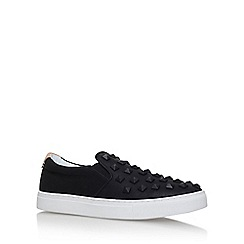 KG Kurt Geiger - Black 'Fidel' flat slip on sneakers