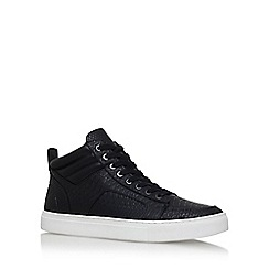 KG Kurt Geiger - Black 'Kurtis' flat lace up sneakers