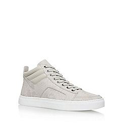 KG Kurt Geiger - Grey 'Kurtis' flat lace up sneaker