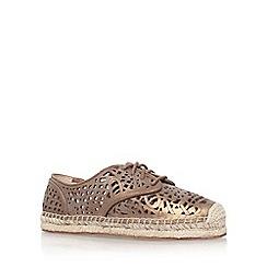 Vince Camuto - Metal 'dinah' flat lace up espadrille shoe
