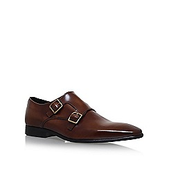 KG Kurt Geiger - Brown 'Root' flat double monk shoe
