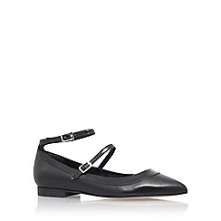 Carvela - Black 'lucy' flat court shoes with ankle straps