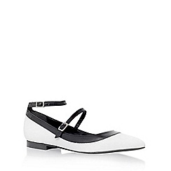 Carvela - White 'Lucy' low heel sandals