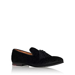 KG Kurt Geiger - Black 'Chinesh' flat slip on loafers