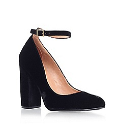 Carvela - Black 'Adonis' high heel court shoe with ankle strap