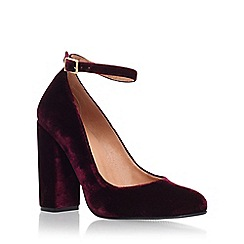 Carvela - Red 'Adonis' high heel court shoe with ankle strap