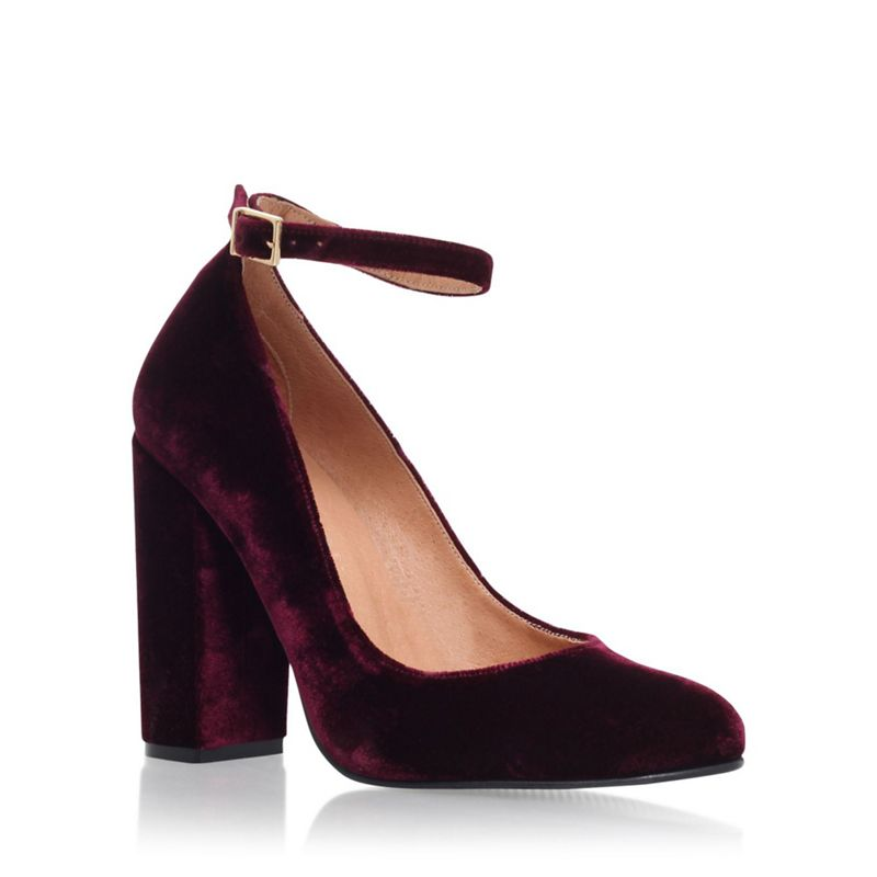 Carvela Red Adonis high heel court shoe with ankle strap