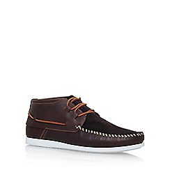 KG Kurt Geiger - Brown 'Marlo' flat lace up shoes