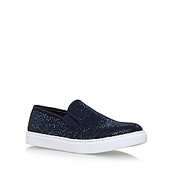 Carvela - Blue 'Jamie' flat slip on sneakers