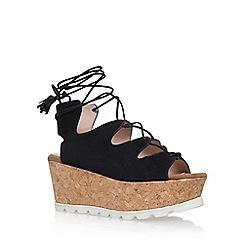 Carvela - Black 'Kooper' high heel wedge sandals