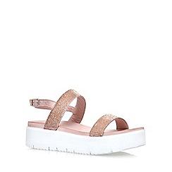 Carvela - Natural 'Kryptic' mid heel wedge sandals