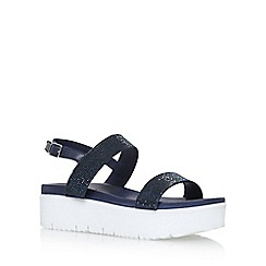 Carvela - Blue 'Kryptic' mid heel wedge sandals