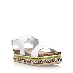 Carvela - White 'Kitten' flat sandal
