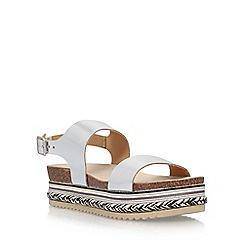 Carvela - Silver 'Kitten' flat sandals