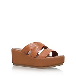 Carvela - Brown 'Kan' high heel wedge sandals