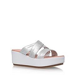 Carvela - Silver 'Kan' High Heel Wedge Sandals