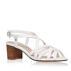 Carvela - White 'sandie' mid heel sandal