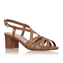 Carvela - Brown 'sandie' mid heel sandal