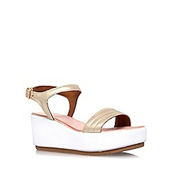 Carvela - Gold 'Kylie' high heel wedge sandals