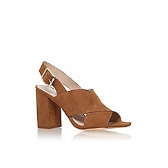 Carvela - Brown 'Serena' sling black high heel sandal