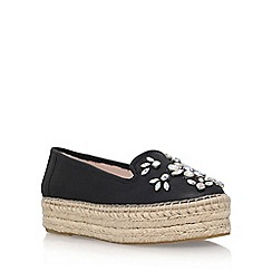 Carvela - Black 'Lolly' low heel espadrille sneaker