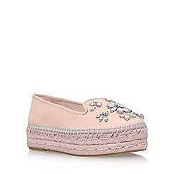 Carvela - Natural 'Lolly' mid heel espadrille loafer