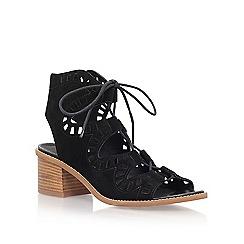 Carvela - Black 'Koala' mid heel lace up sandals