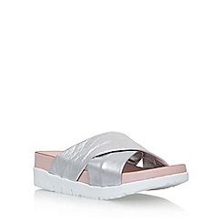 Carvela - Silver 'Kasper' flat slip on sandals