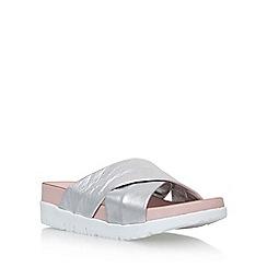 Carvela - Silver 'Kasper' flat slip on sandals
