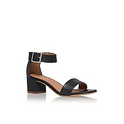 Carvela - Black 'shadow' mid heel sandal
