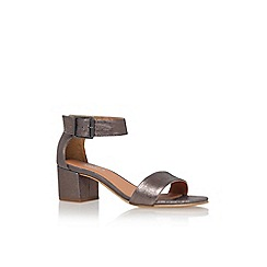 Carvela - Grey 'shadow' mid heel sandal