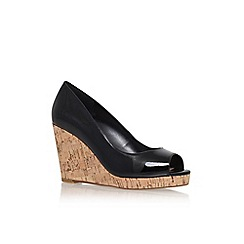 Carvela - Black 'stellar' high heel peep toe wedge shoe