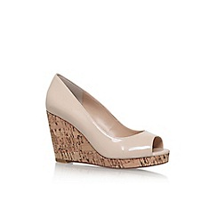Carvela - Natural 'Stellar' high wedge heel shoes
