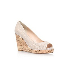 Carvela - Gold 'Stellar' high wedge heel shoes