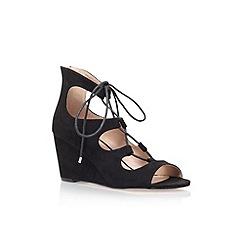 Carvela - Black 'Sophia' wedge heel lace up sandal