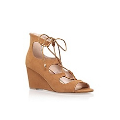 Carvela - Brown 'Sophia' wedge heel lace up sandal