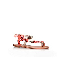 Carvela - Orange 'Klipper' flat sandals