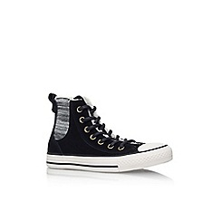 Converse - Black 'Ct chelsee hi' hi top lace up sneaker