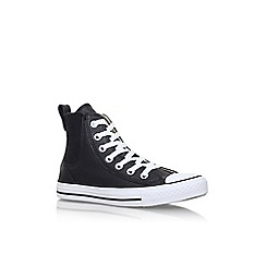 Converse - Black 'Ct chelsee low' flat lace up high top sneaker