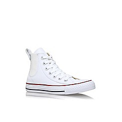 Converse - White 'Ct chelsee low' flat lace up high top sneaker